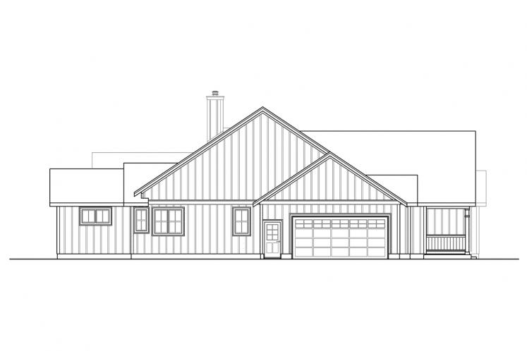 Ranch House Plan - Whiskey Creek 93944 - Left Exterior