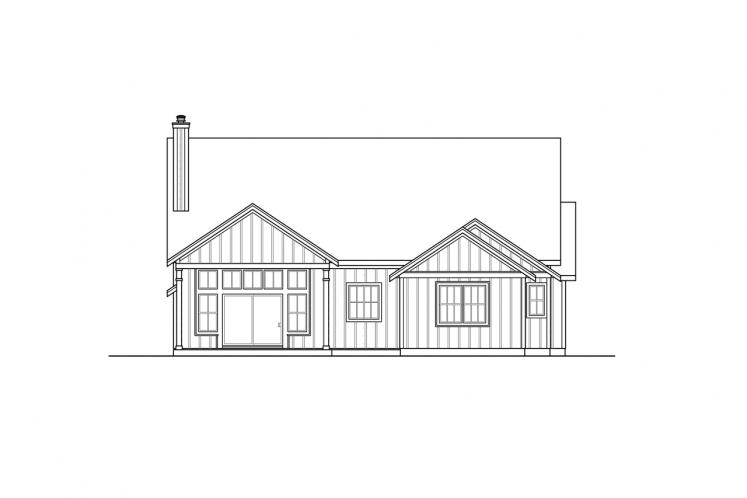 Modern House Plan - Whiskey Creek 93944 - Rear Exterior