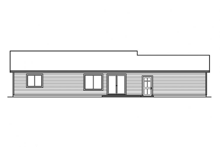 Traditional House Plan - Kettering 93960 - Rear Exterior