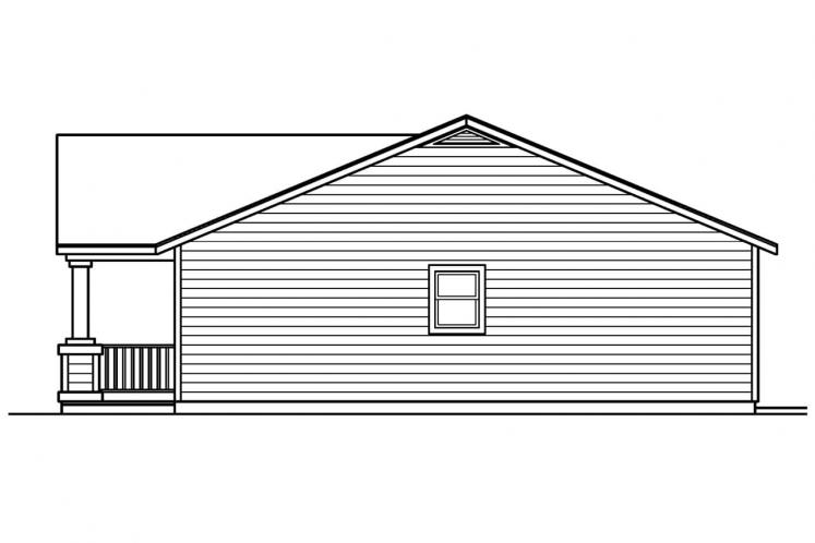 Traditional House Plan - Kettering 93960 - Right Exterior