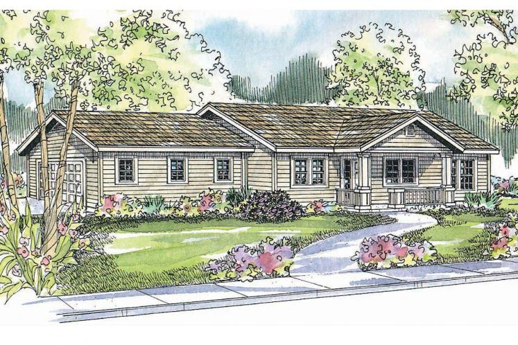 Ranch House Plan - Kettering 93960 - Front Exterior