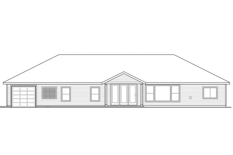 Country House Plan - Hollyview 93979 - Rear Exterior