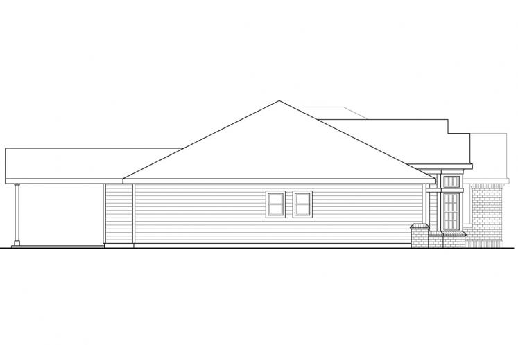 Ranch House Plan - Hollyview 93979 - Left Exterior