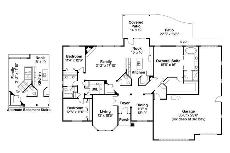 Country House Plan - Hollyview 93979 - 1st Floor Plan