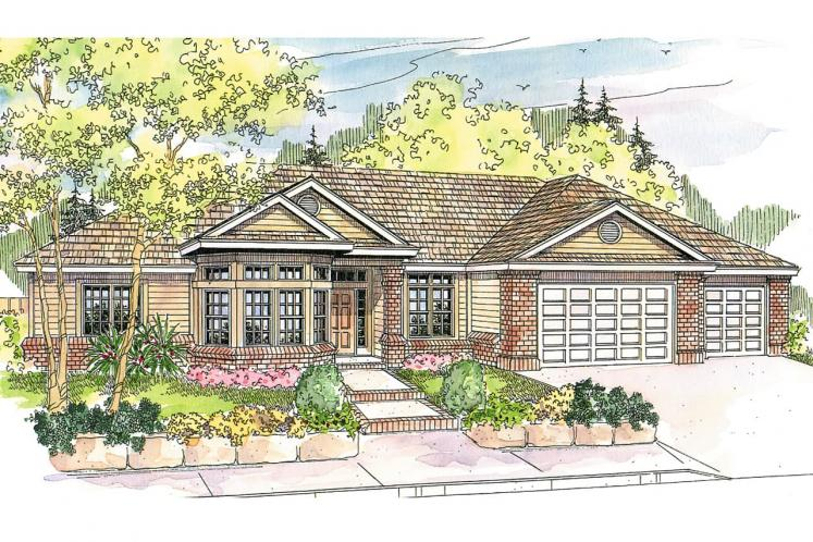 Traditional House Plan - Hollyview 93979 - Front Exterior