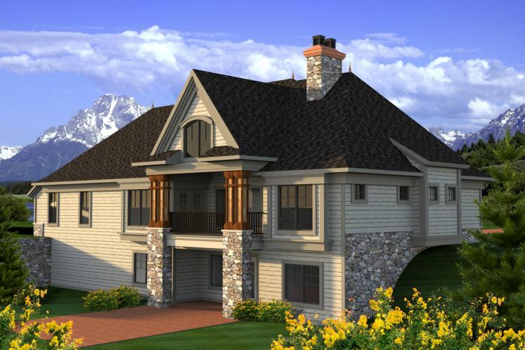 European House Plan -  93993 - Rear Exterior