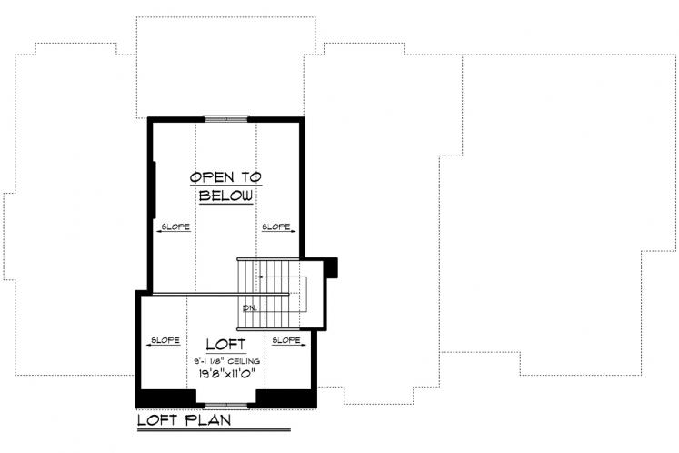 Country House Plan -  93993 - 2nd Floor Plan