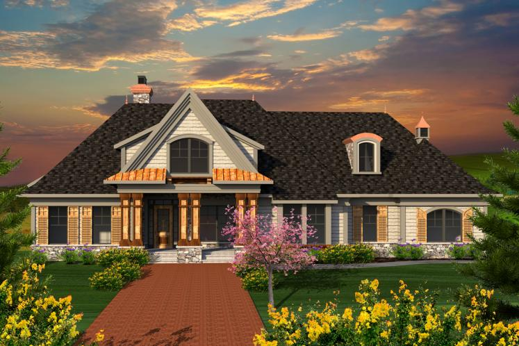 Country House Plan -  93993 - Front Exterior