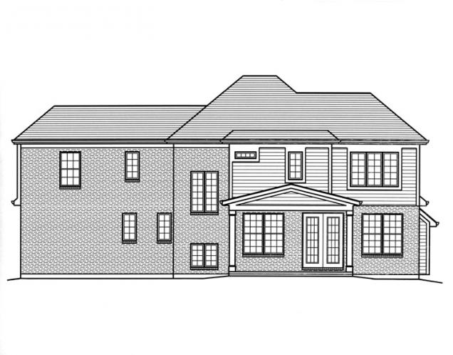 Traditional House Plan - Sweetbriar 94014 - Rear Exterior