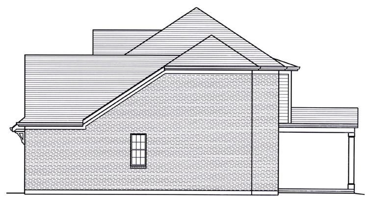 Colonial House Plan - Sweetbriar 94014 - Right Exterior