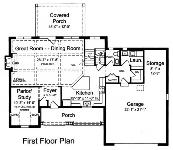 Country House Plan - Sweetbriar 94014 - 1st Floor Plan