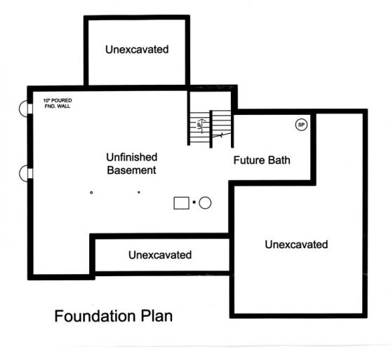 Colonial House Plan - Sweetbriar 94014 - Basement Floor Plan