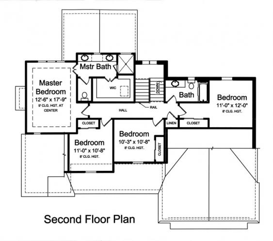 Traditional House Plan - Sweetbriar 94014 - 2nd Floor Plan