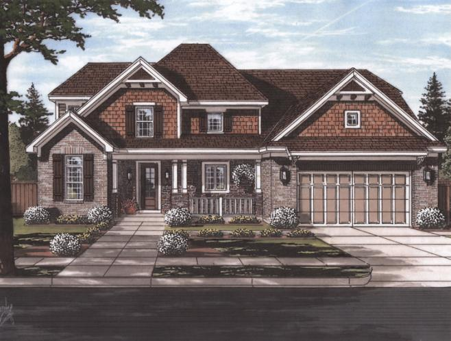 Colonial House Plan - Sweetbriar 94014 - Front Exterior