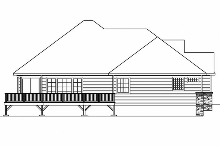 Traditional House Plan - Ramsbury 94108 - Right Exterior