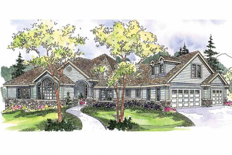 Traditional House Plan - Ramsbury 94108 - Front Exterior