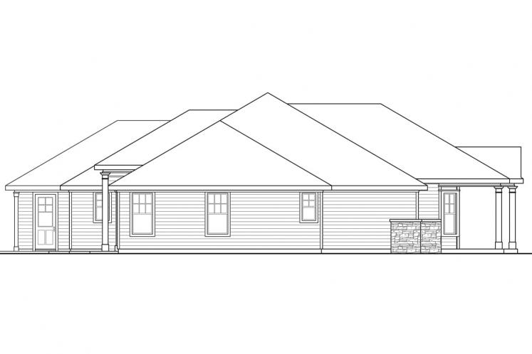 Country House Plan - Cloverdale 94223 - Left Exterior
