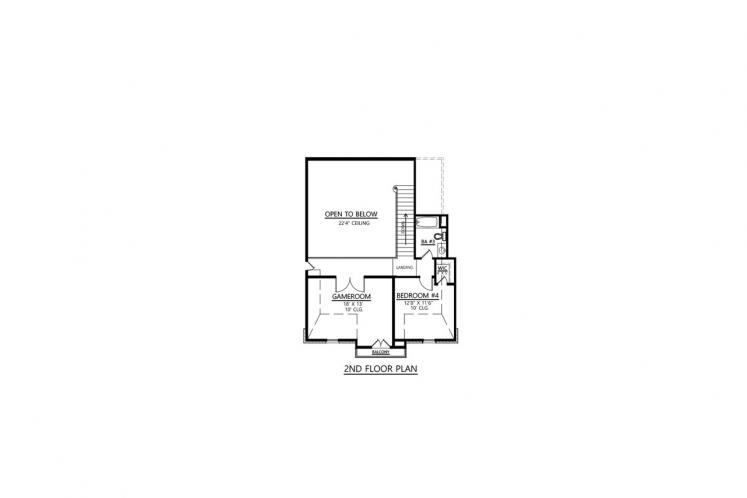 Southern House Plan - Monte Clare 94327 - 2nd Floor Plan