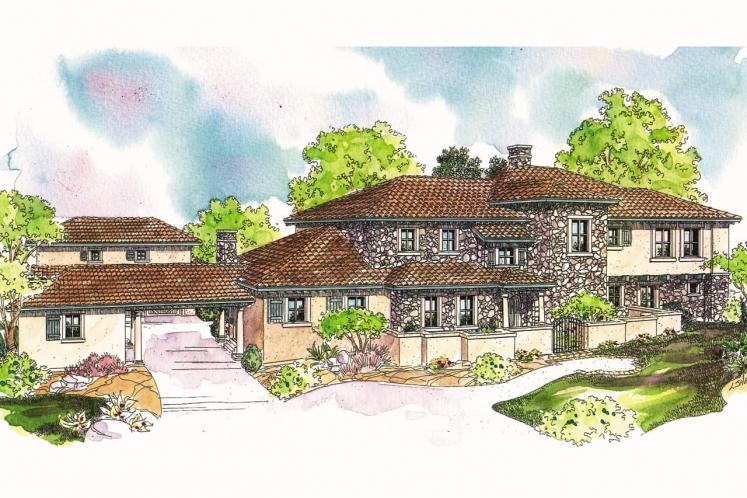 Spanish House Plan - Rossano 94444 - Front Exterior