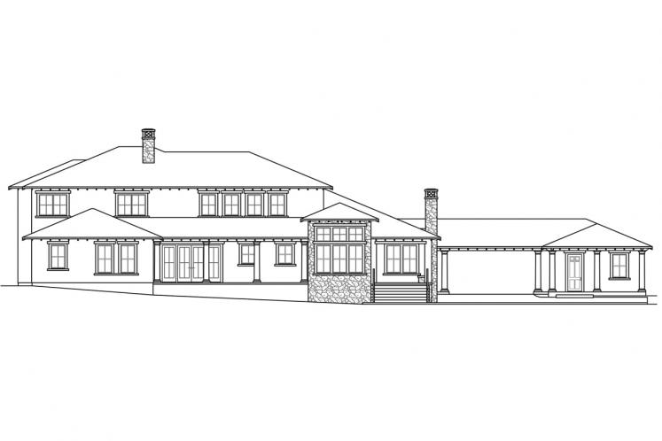Tuscan House Plan - Rossano 94444 - Rear Exterior