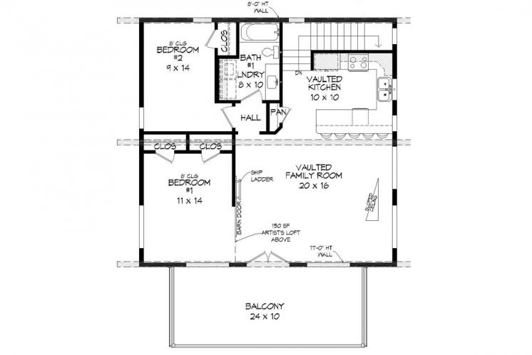 Contemporary House Plan - Eagle River 94559 - 2nd Floor Plan