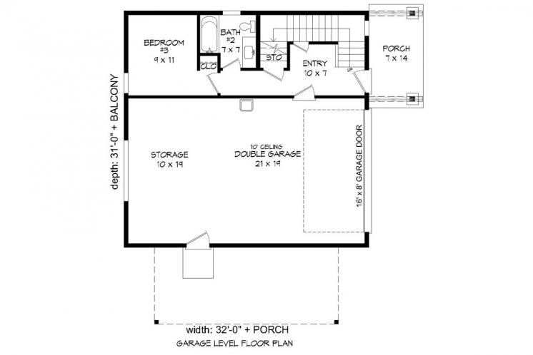 Modern House Plan - Eagle River 94559 - 1st Floor Plan