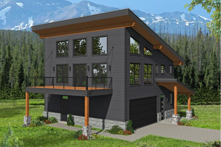 Modern House Plan - Eagle River 94559 - Front Exterior