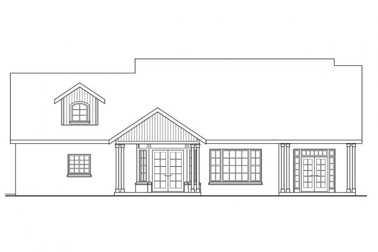 Cottage House Plan - Heartsong 94686 - Rear Exterior