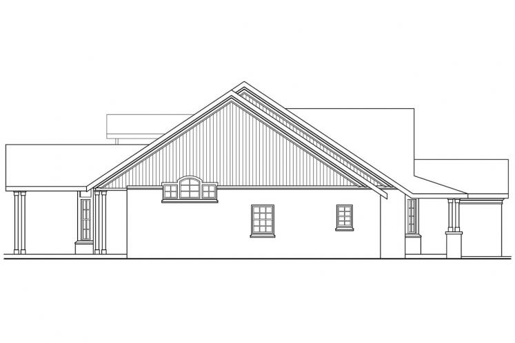 Country House Plan - Heartsong 94686 - Left Exterior