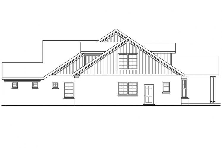 Craftsman House Plan - Heartsong 94686 - Right Exterior