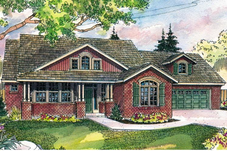Craftsman House Plan - Heartsong 94686 - Front Exterior