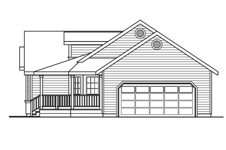 Country House Plan - Briarton 94713 - Right Exterior