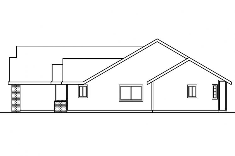 Traditional House Plan - Rollins 95046 - Right Exterior