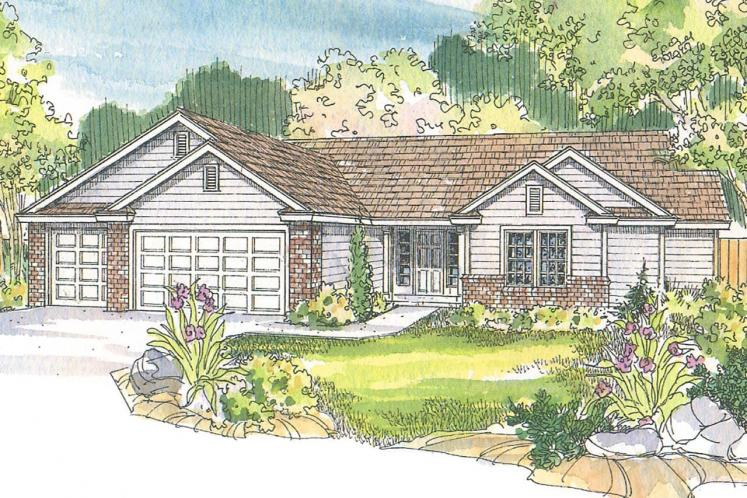 Ranch House Plan - Rollins 95046 - Front Exterior