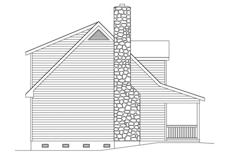 Country House Plan -  95139 - Left Exterior