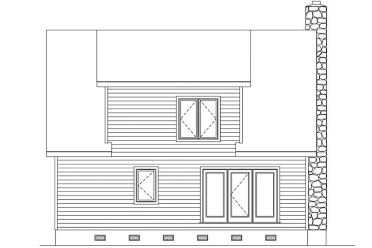 Lodge Style House Plan -  95139 - Rear Exterior
