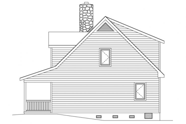 Lodge Style House Plan -  95139 - Right Exterior