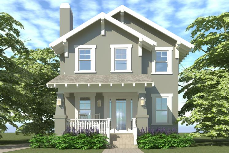 Craftsman House Plan - Comstock 95186 - Front Exterior