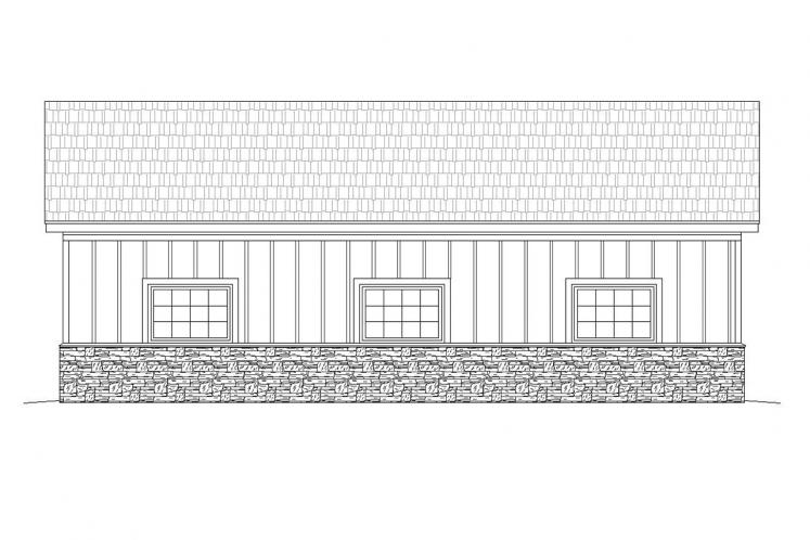 Traditional Garage Plan - Pebblestump 95217 - Rear Exterior