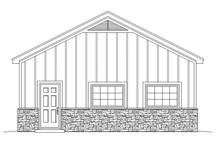Traditional Garage Plan - Pebblestump 95217 - Right Exterior