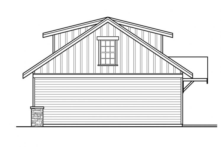 Bungalow House Plan - Heartfall 95320 - Right Exterior