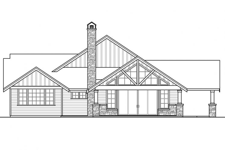 Craftsman House Plan - Heartfall 95320 - Left Exterior