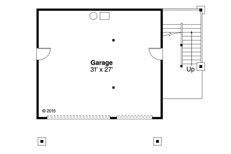 Craftsman Garage Plan - 20-152 95378 - 1st Floor Plan