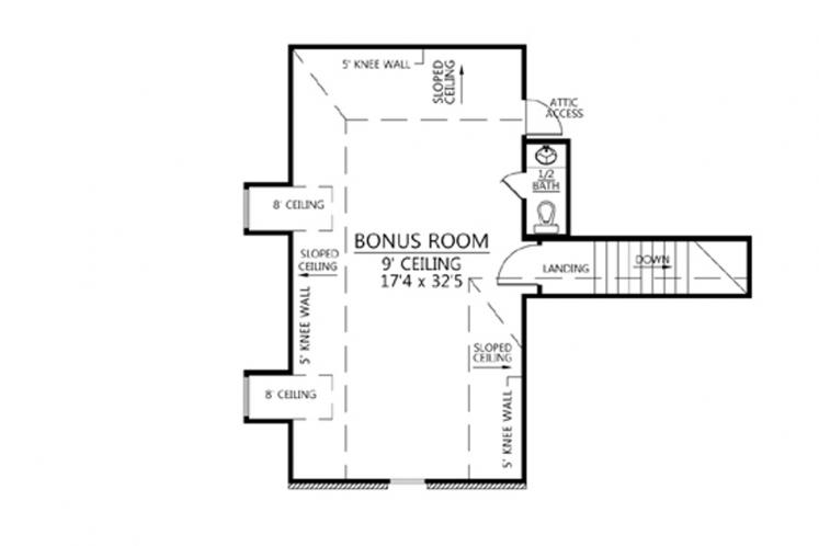Southern House Plan - Southerner 95383 - 2nd Floor Plan