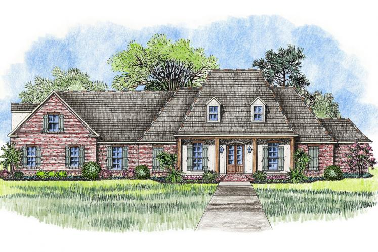 European House Plan - Southerner 95383 - Front Exterior