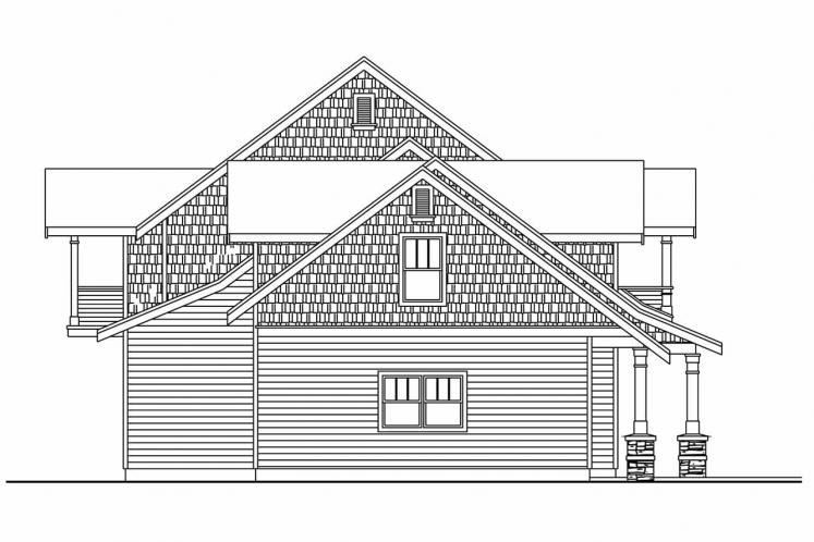 Lodge Style House Plan - Brookport 95500 - Left Exterior
