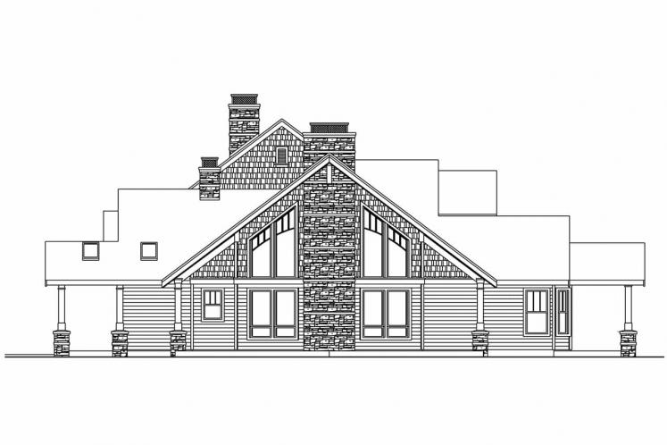 Craftsman House Plan - Brookport 95500 - Right Exterior