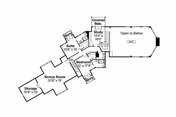 Lodge Style House Plan - Brookport 95500 - 2nd Floor Plan