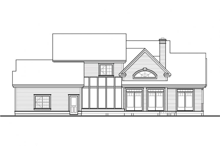 Country House Plan - New Cotton Country 95543 - Rear Exterior