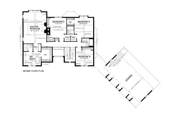 Craftsman House Plan -  95593 - 2nd Floor Plan